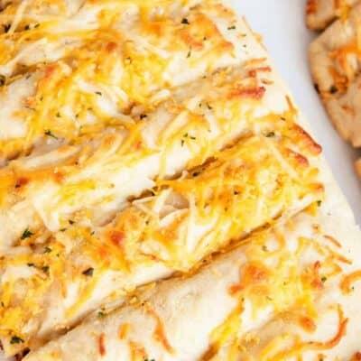 cheesy garlic bread slices