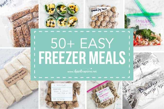 photograph relating to Printable Freezer Labels identified as 50+ Very simple Freezer Food stuff (+ Cost-free Printable Labels) - I Middle
