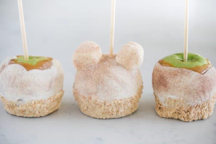 caramel apple pie apples on a stick