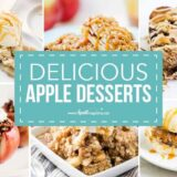 collage of apple desserts