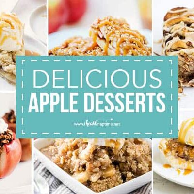 collage of apple desserts