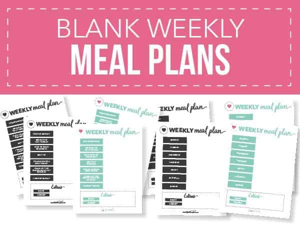 graphic about Meal Planning Printable known as Free of charge Printable Weekly Evening meal Method Templates - I Center Naptime