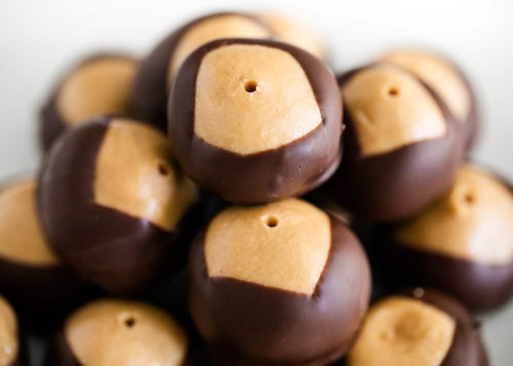 stacked buckeye candy balls