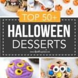 collage of halloween desserts