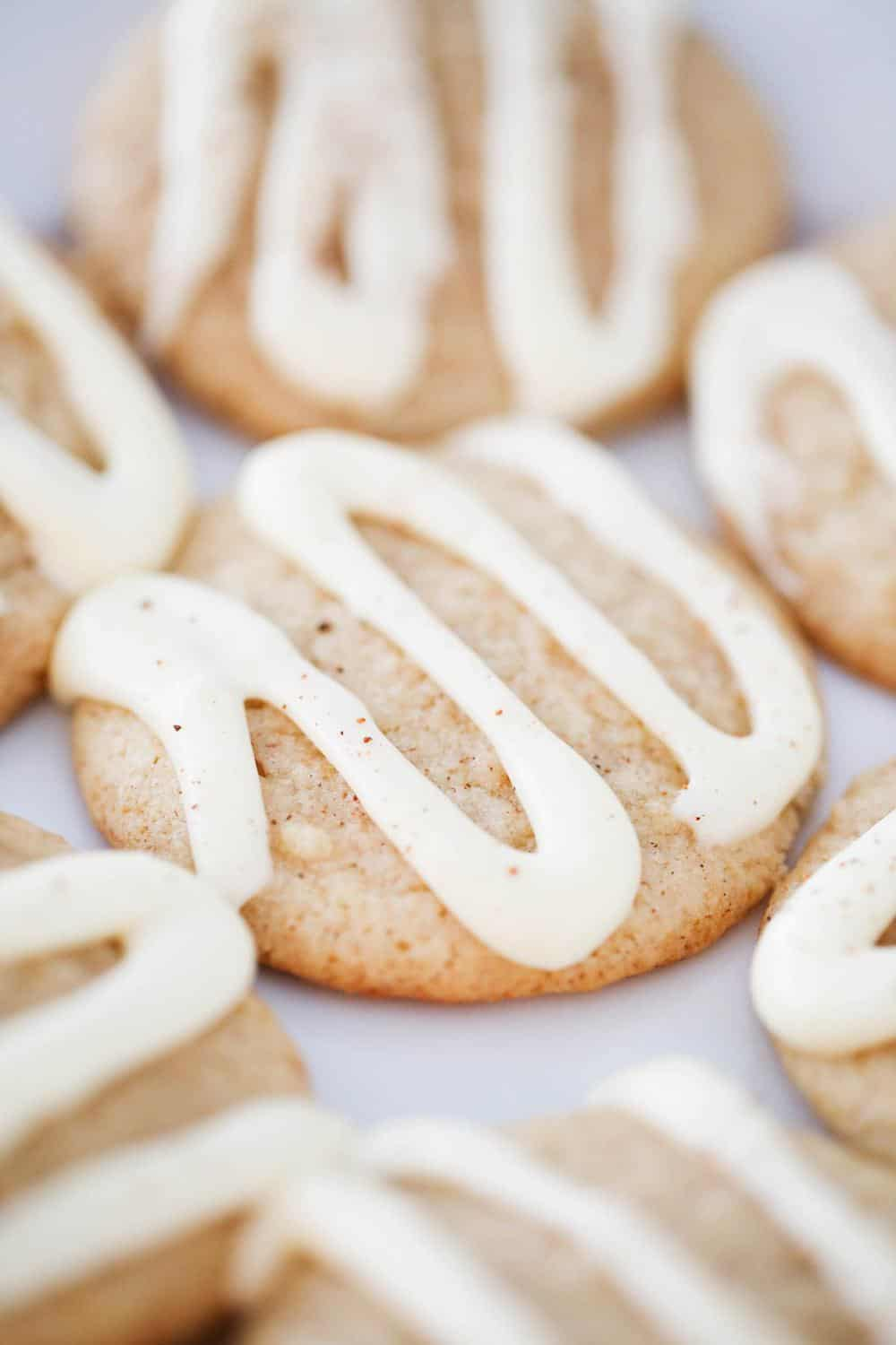 soft eggnog cookies with icing