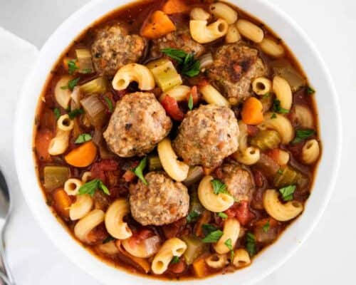 bowl of meatball soup