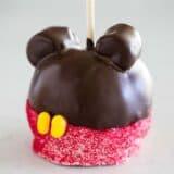 Homemade Mickey apple