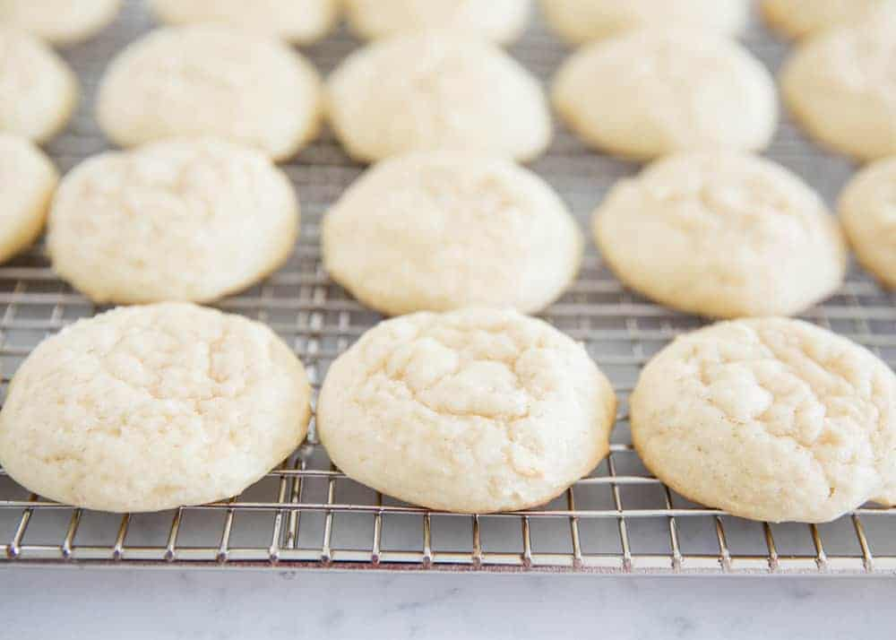 ricotta cheese cookies on a cooling rack