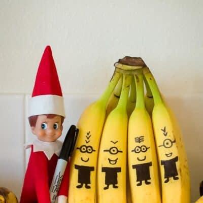 Elf on the shelf banana minions