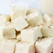 stack of eggnog fudge