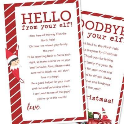 christmas elf on the shelf letters