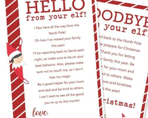 christmas elf on the shelf letters