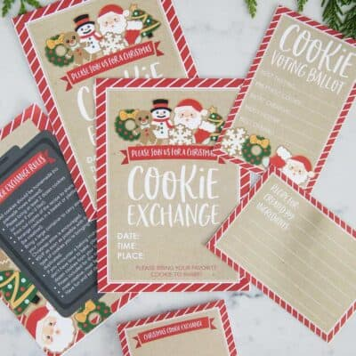 printed cookie exchange invite and rules