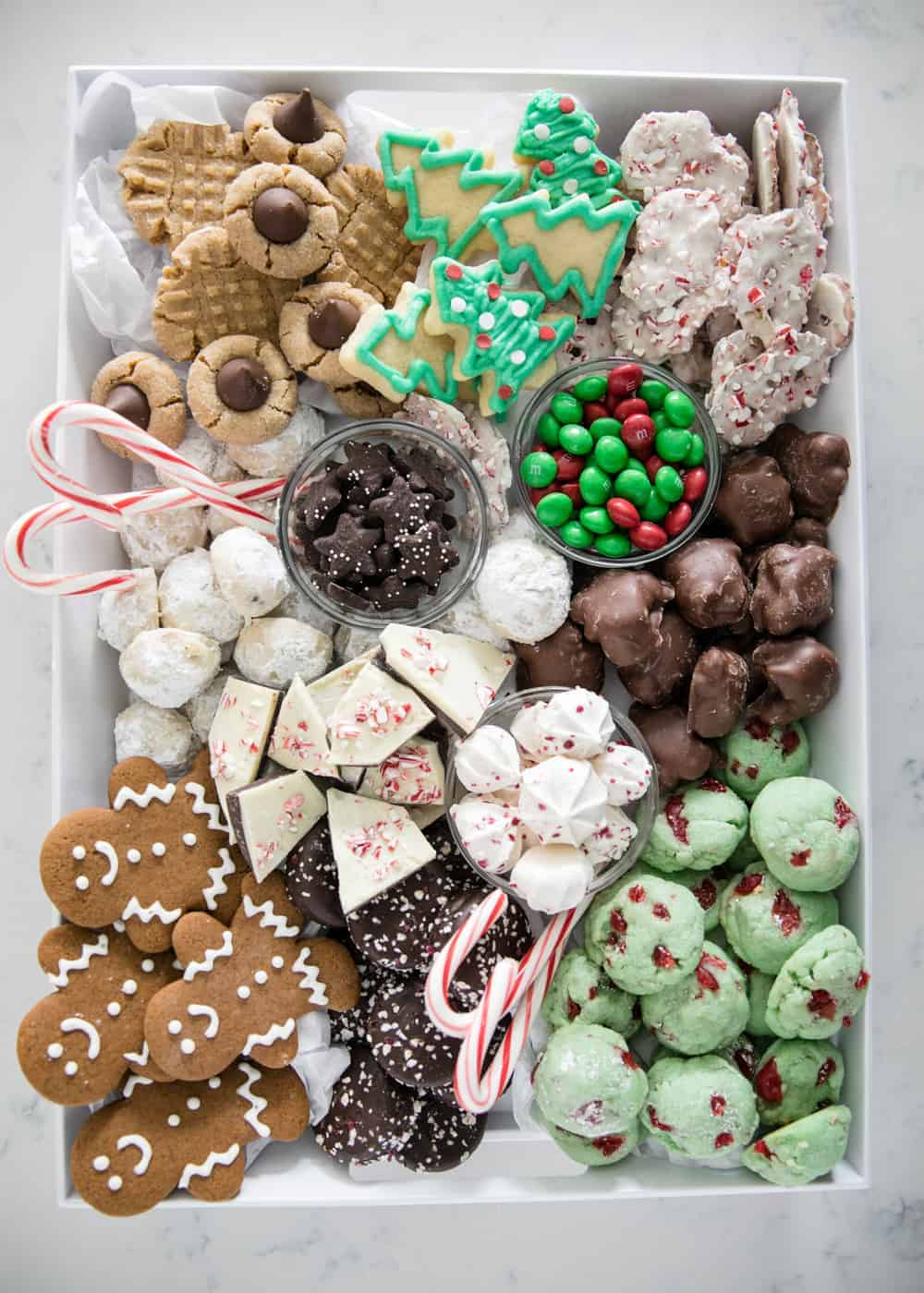 tray of cookies for a cookie exchange