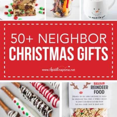 collage of neighbor christmas gifts