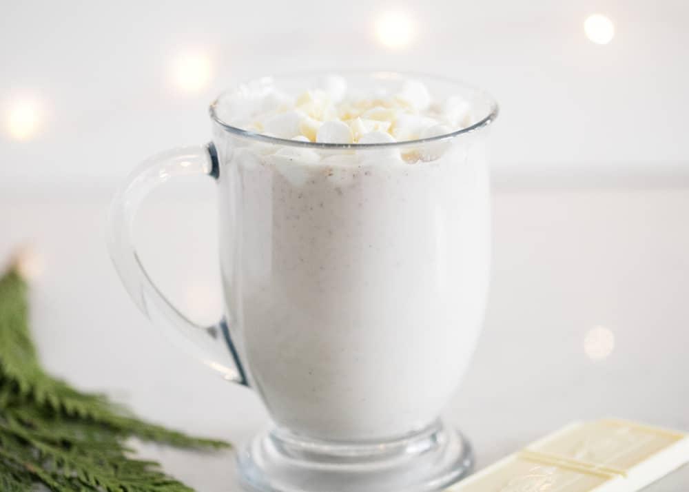 mug full of snickerdoodle hot chocolate