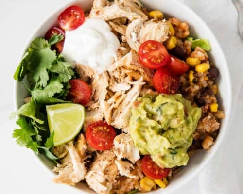 taco bowl with toppings