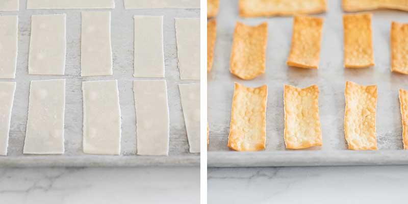 baked wonton strips