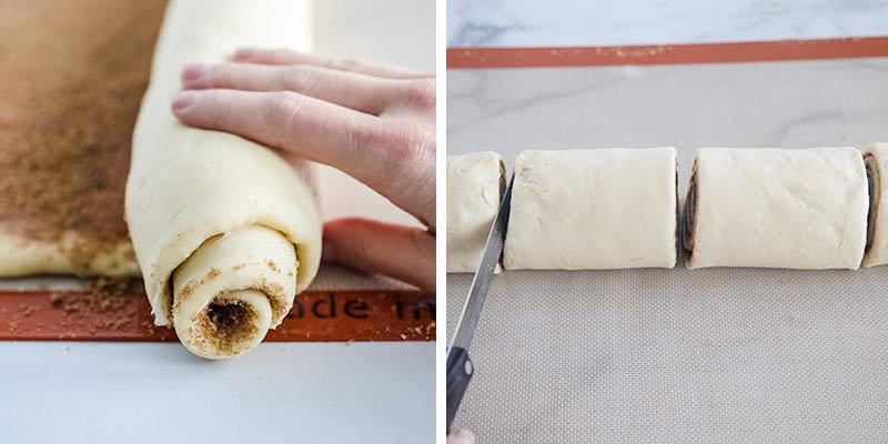 rolling cinnamon rolls