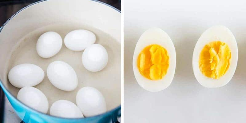 boiling eggs for egg salad