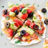 sliced mexican pizza