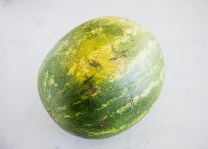 watermelon on counter