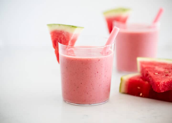 watermelon smoothie glass cup