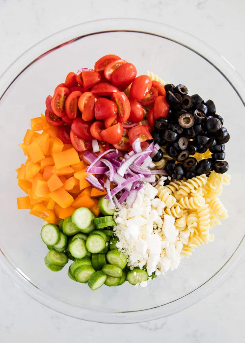 greek pasta salad ingredients