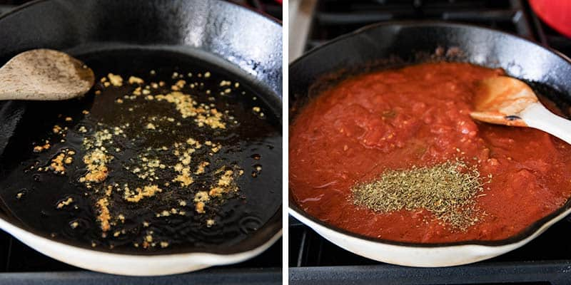 how to make marinara sauce in skillet