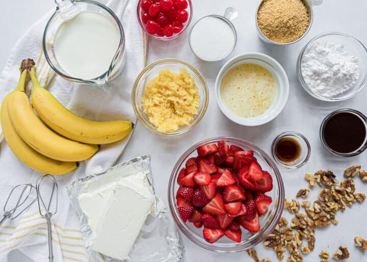 banana split dessert ingredients