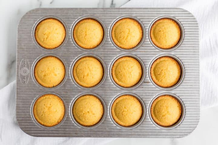 corn bread muffins in tin pan