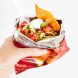 walking taco in a dorito bag