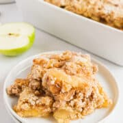 apple dump cake on plate