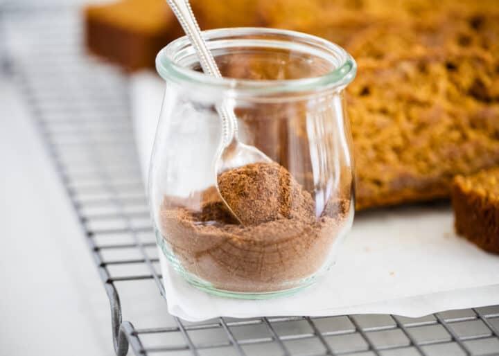 pumpkin pie spice in jar
