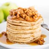 apple pancakes on white plate
