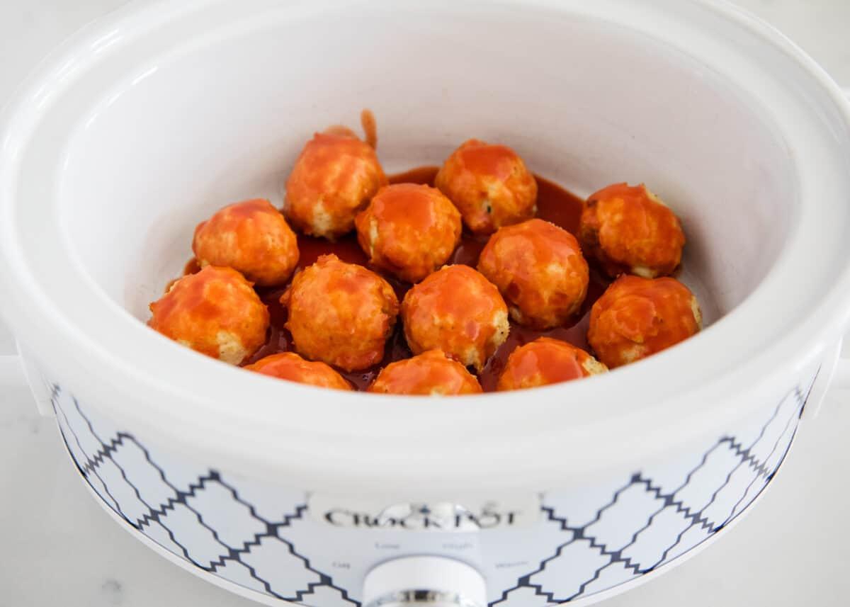 buffalo chicken meatballs in crockpot