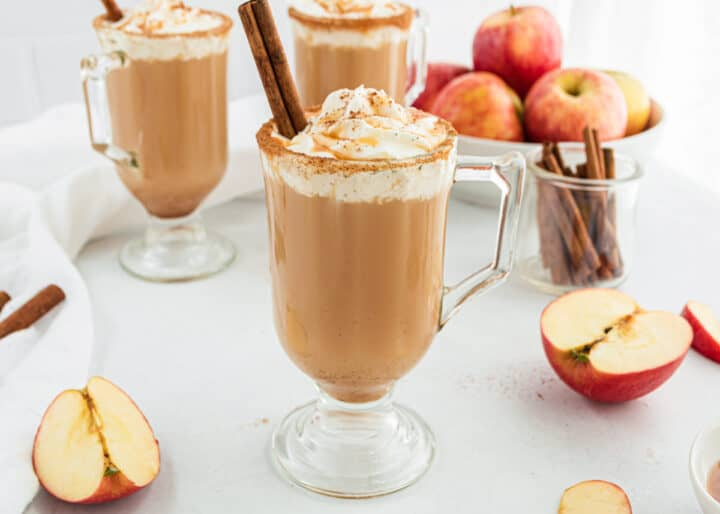 cup of caramel apple cider