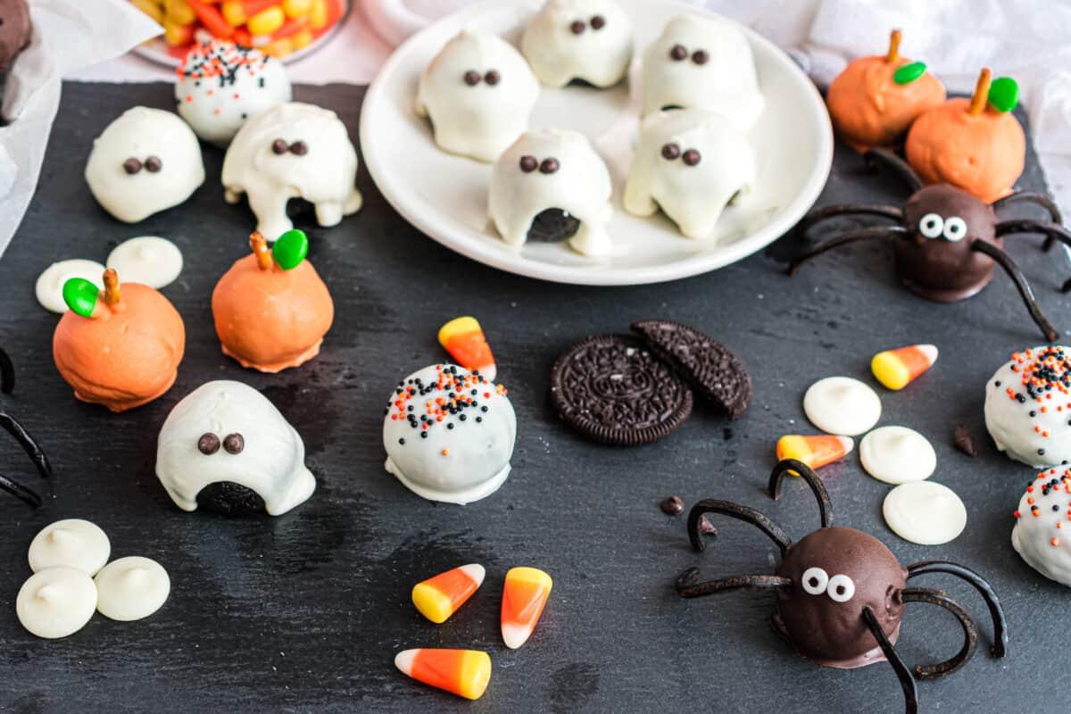 halloween oreo balls