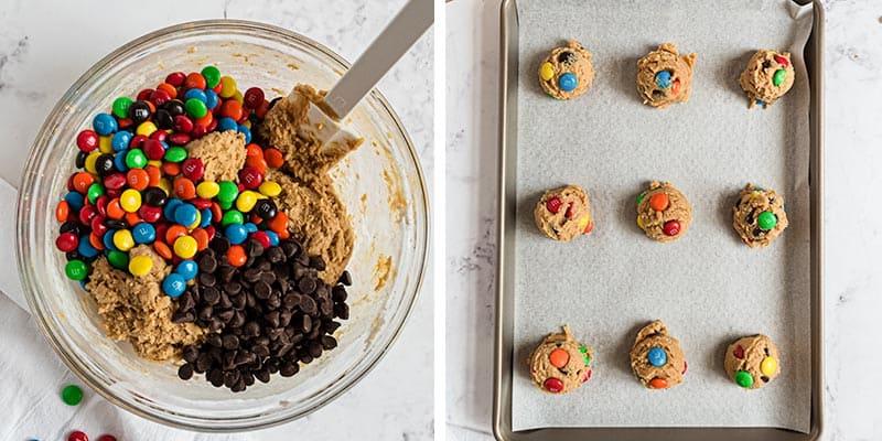 making peanut butter cookie dough