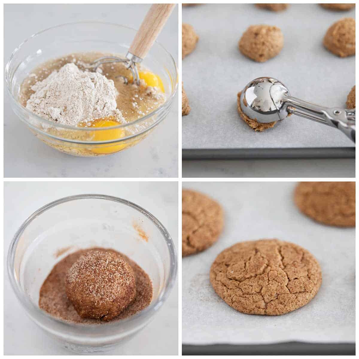 making spice cookies in bowl