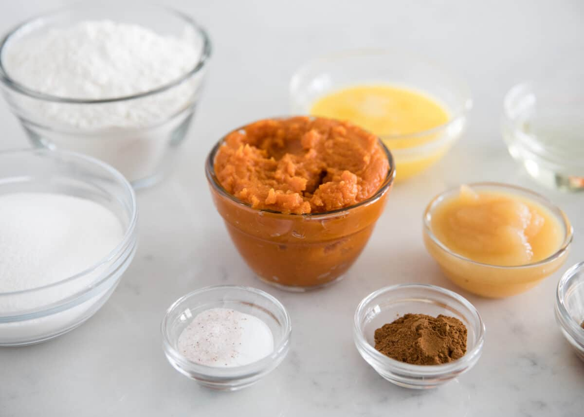 pumpkin muffin ingredients
