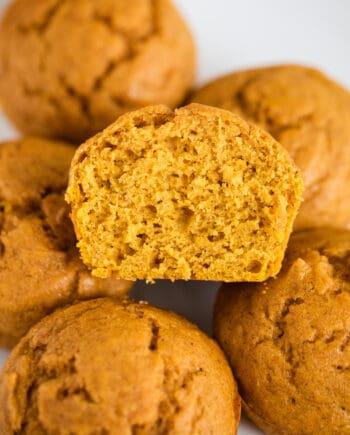 sliced pumpkin muffin