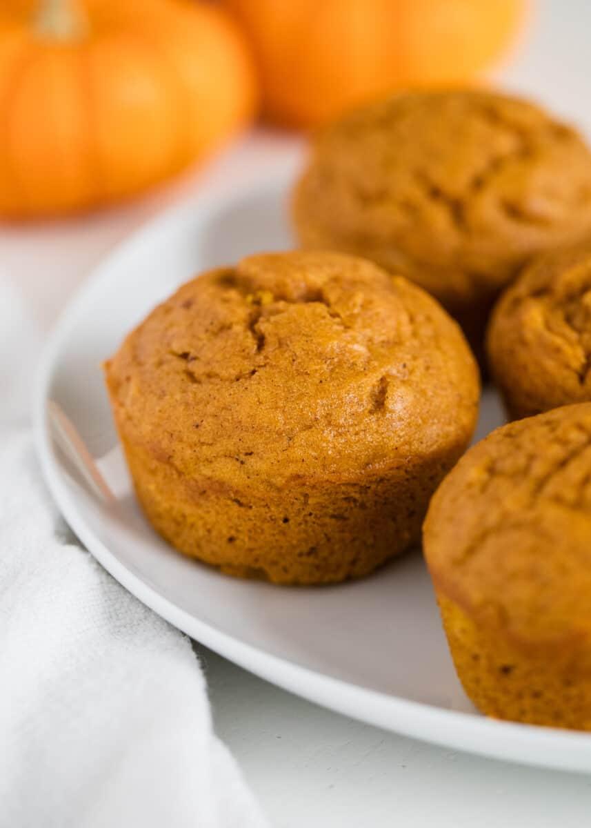 pumpkin muffins on plate