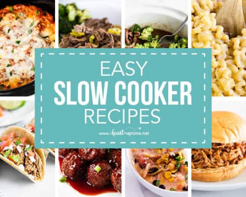 collage of slow cooker recipes