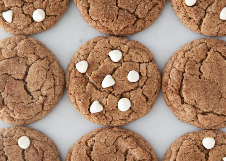 spice cake mix cookies with white chocolate chips
