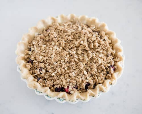 pie with crumb topping