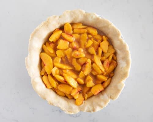 fresh pie pie on counter