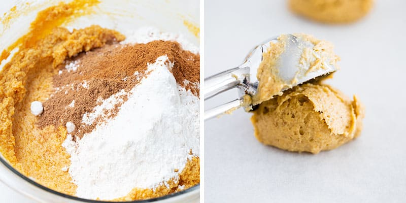 making pumpkin cookies