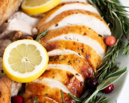 turkey with lemon and herbs