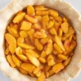 peach pie filling in pie crust